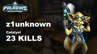 z1unknown Pip 23 KILLS!! Paladins Ranked Gameplay