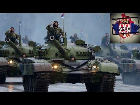 Prebacivanje 252 oklopne brigade VJ iz Kraljeva na Kosovo, koja je izvedena neopaženo u uslovima apsolutne neprijateljske prevlasti u vazduhu. Music: Burning Bridges - Kelly's Heroes - Theme...