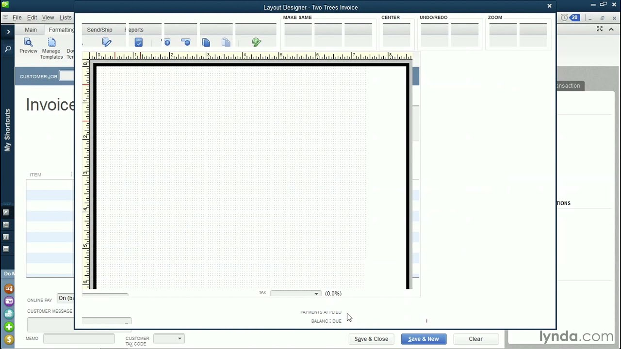 how do i change the default invoice template in quickbooks?  QuickBooks Pro 2014 tutorial: Customizing invoices and forms | lynda ...