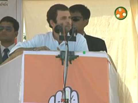 Shri Rahul Gandhi addressing an election Rally at Palampur (Gujarat)
