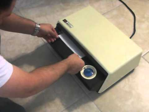 how to use a thermofax machine