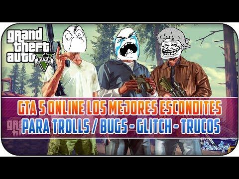 GTA 5 ONLINE - LOS MEJORES ESCONDITES PARA TROLL'S #3 / TRUCOS - GLITCH'S - BUG'S