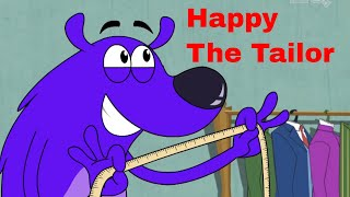 Happy The Tailor Ep - 11 - Pyaar Mohabbat Happy Lucky - Funny Hindi Cartoon Show - Zee Kids