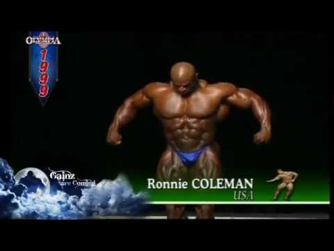 Ronnie Coleman- 1999 Mr. Olympia Pre-judging video