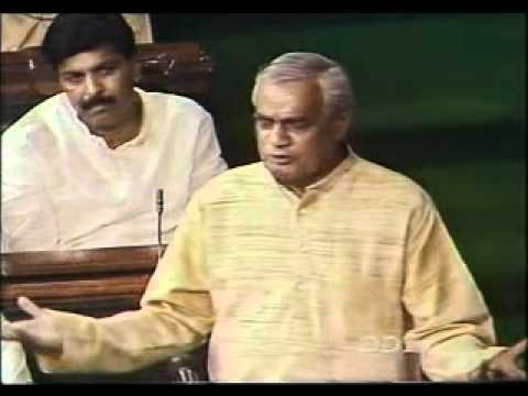 Atal Bihari Vajpayee Speech In Parliament On Confidence Motion - Part 2 2 video