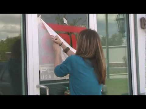 Applying Vinyl Graphics - (www.TheSignChef.com) Window Lettering and Graphics Part 2