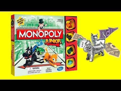 Детская игра Монополия распаковка и обзор. Monopoly Junior for kids