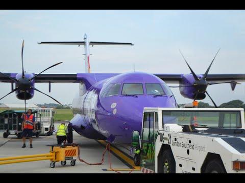 Flybe Stobart Air BE6050 London Southend (SEN) - Caen (CFR) *FULL FLIGHT* ATR 72-500 EI-REM 12/6/15