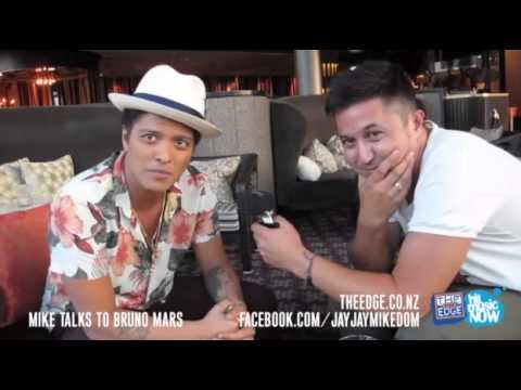 2013-04-10 Bruno Mars talks to Mike - The Edge (New Zealand)
