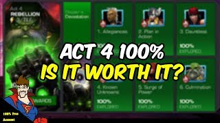 Act 4 100% Is it worth 6,000+ units in energy refills?