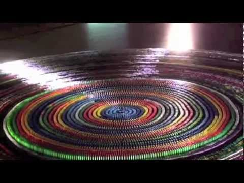 World Record: Most dominoes toppled in a spiral (30,000) complete Toppling Music Videos
