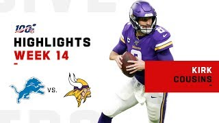 Kirk Cousins Highlights vs. Lions | NFL 2019 Highlights