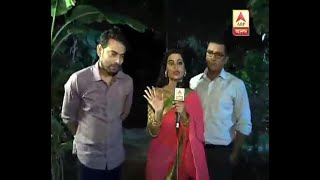 Watch: Ahana , Arjun and Mrinal from the serial Milon Tithi sharing their shooting in the