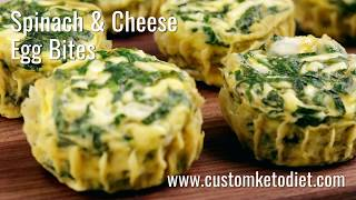 How to make Spinach & Cheese Egg Bites || KetoDiet Food Recipe