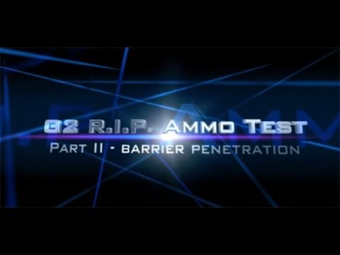 G2 RIP R.I.P. ammo review Part II: vs. Federal HST in ballistic gel. denim. and plywood
