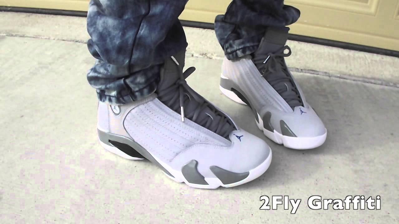 Jordan Wolf Grey 14 14 Xiv Wolf Grey on Feet