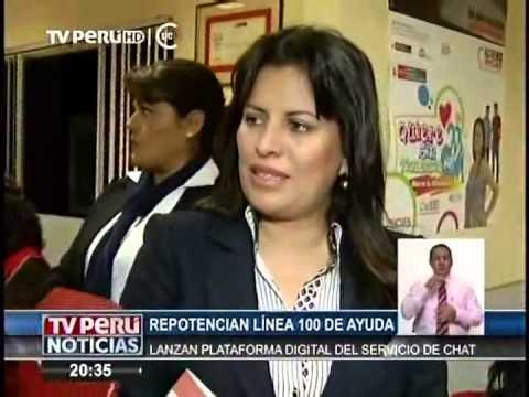 Ministra de la Mujer repotencio la plataforma Chat 100