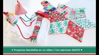 Coser para Navidad: 4 proyectos fáciles con patrones gratis ♥