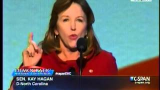 Senator Kay Hagan Remarks at the 2012 Democratic National Committee