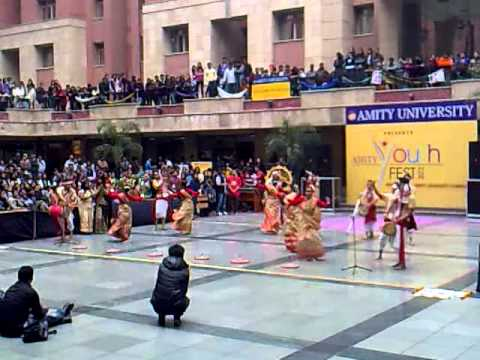 Bihu Dance In Amity Youth Fest,2012 video