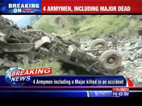 4 Army men including a Major killed in an accident in Kupwara District