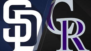 Renfroe lifts Padres past Rockies: 4/10/18