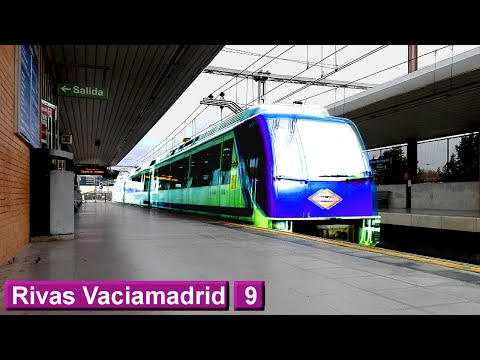 Rivas Vaciamadrid L9 TFM : Metro de Madrid ( Serie 6000 )