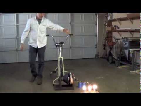 Pedal Power exercise bike electric generator
