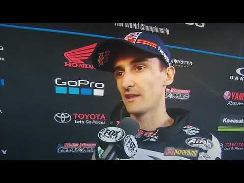 Marvin Musquin defends his takeout | Podium Interview Foxborough SX 2018