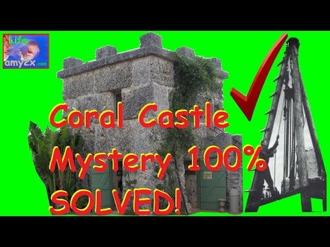 Coral Castle Mystery 100% Solved with 1930's Film Footage!