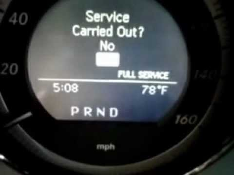 How to reset the service indicator light on a 2009 Mercedes Benz C300