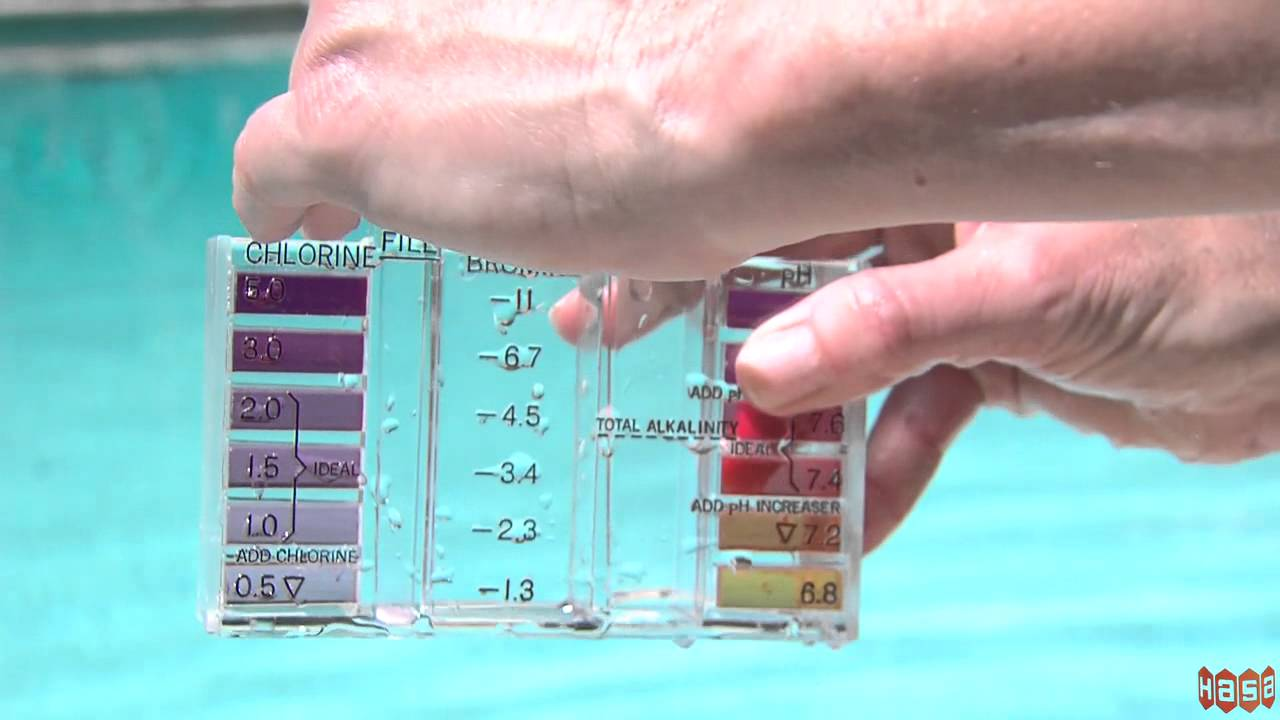 How to test chlorine levels using a dpd 4 in 1 kit youtube for Pool won t show chlorine
