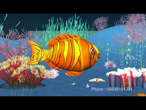 Machli jal ki rani hai  - Fish 3D Animation Hindi Nursery rhymes...