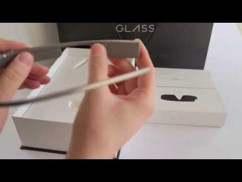 Комплектация Google Glass, распаковка коробки