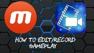 How To Edit Your YouTube Videos And Record Them!! || PowerDirector || Mobizen