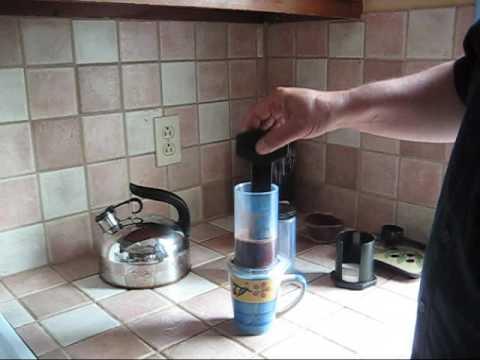Aeropress Coffee Maker Demo : How To Make Espresso With An Aerobie Aeropress How To Save Money And Do It Yourself!