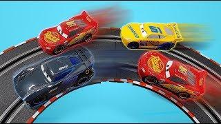Disney Cars 3 Carrera Go Race Tracks Compilation Lightning Mcqueen Jackson Storm Cruz Ramirez