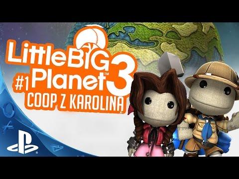#1 Zagrajmy w Little Big Planet 3 Coop z Karoliną PS4 Gameplay 1080p