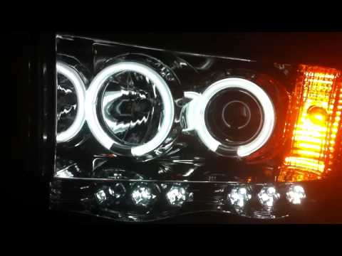 2004 Dodge Ram CCFL Angel Eyes LED Headlights