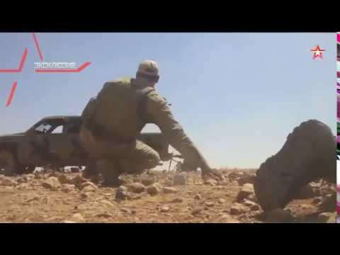 Снайпер ИГИЛ ведет огонь и уничтожается выстрелом из РПГ (кадры от первого лица)