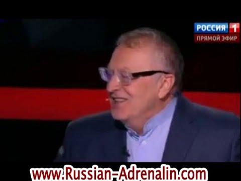Жириновский разбил стакан на Воскресном вечере