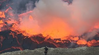 The most amazing video of Nyiragongo lava lake    Congo     Africa