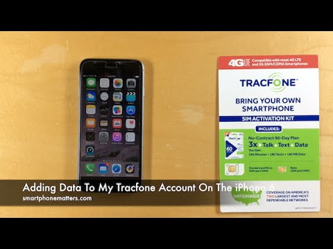Adding Data To My Tracfone Account On The iPhone 6