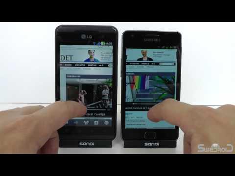 LG Optimus 3D vs Samsung Galaxy S II browser render speed