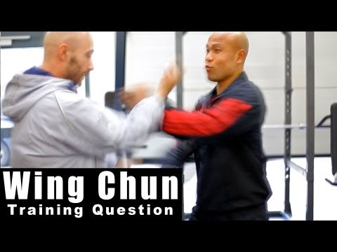 wing chun techniques -  why not use the centre line. Q12 Image 1