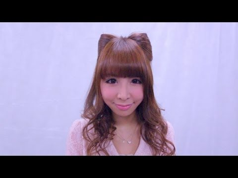 How to make a cat ear hair style with your own hair at home.  地毛でできる猫耳ヘアー   手把手教你打造可爱猫耳发型