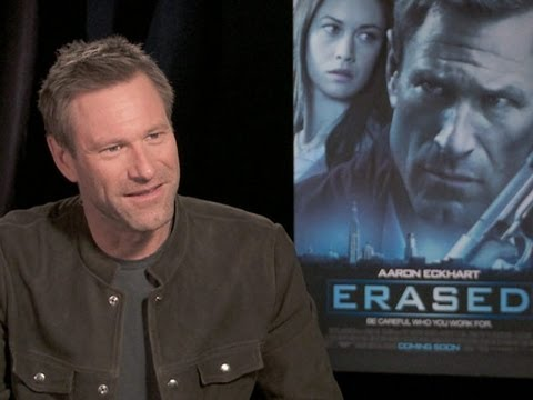 Aaron Eckhart Talks 'Erased'