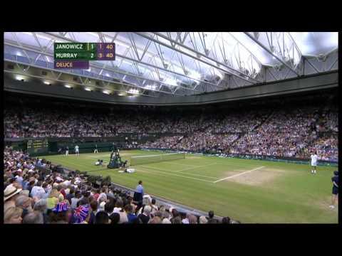 Jerzy Janowicz - Andy Murray Wimbledon 2013 semi final FULL part 5/5