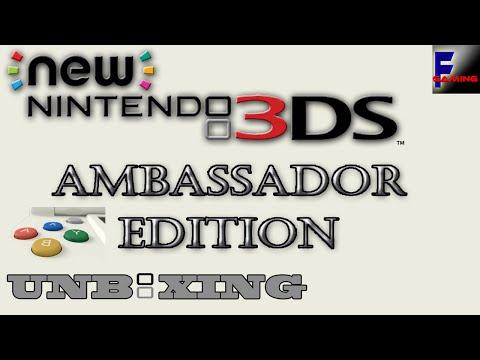 New Nintendo 3ds Ambassador Edition Unboxing [1080p/60fps]