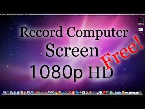 How to Record Your Computer Screen: HD 1080p FREE! (Mac+PC)